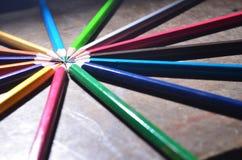 O lápis da cor Fotografia de Stock