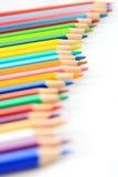 O lápis da cor enfileira-se acima Fotografia de Stock