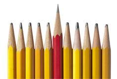 O lápis o mais afiado no grupo, isolado Fotos de Stock Royalty Free