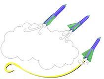 O lápis Rocket Imagens de Stock