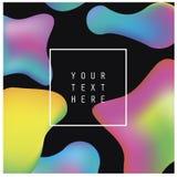 O líquido abstrato colore o cartaz ou o cartão do fundo Molde do vetor Imagens de Stock