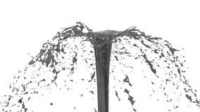 O líquido bonito do pulverizador da fonte gosta do suco cinzento 3d no fundo branco com máscara da alfa do uso do canal alfa Part ilustração do vetor