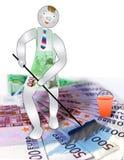 O líquido de limpeza lava o dinheiro ilustração royalty free