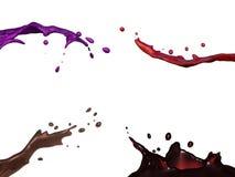 O líquido espirra Imagem de Stock Royalty Free
