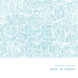 O laço azul floresce o quadro horizontal de matéria têxtil Foto de Stock
