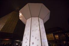 O laço claro de Smycka da instalação por Michal Pustejovsky indicou no festival 2016 da luz de sinal de Praga Fotos de Stock Royalty Free