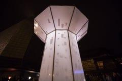 O laço claro de Smycka da instalação por Michal Pustejovsky indicou no festival 2016 da luz de sinal de Praga Fotografia de Stock