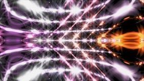 O laço de Vj, batida com partículas brilhantes, fundo abstrato moderno gerado por computador da música, 3d rende ilustração do vetor