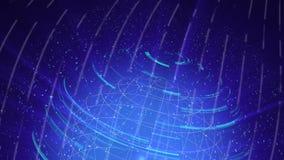 O laço digital do fundo da distorção de vidro do globo, 3d abstrato rende, contexto gerado por computador ilustração do vetor