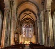 O la dos dans do Saint Nazaire de Basilique do La menciona de Carcassonne - Aude & x28; France& x29; foto de stock