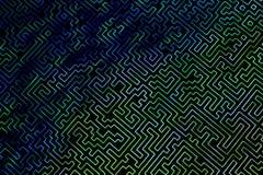 O labirinto é como um teste padrão tridimensional abstrato de cores psicadélicos 3D visualização, ilustrações Mim ilustração royalty free