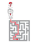O labirinto complexo Imagens de Stock