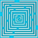 O labirinto da dúvida sobre o azul Imagem de Stock Royalty Free