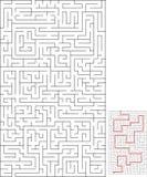 O labirinto do labirinto para relaxa o tempo Foto de Stock