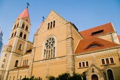 O lado da igreja Fotografia de Stock Royalty Free