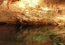 O lado do espelho da caverna Foto de Stock