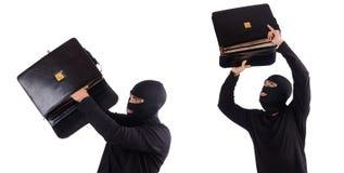 O ladrão que verifica índices do saco Fotos de Stock