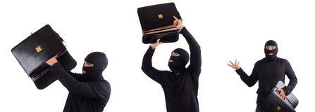 O ladrão que verifica índices do saco Imagens de Stock
