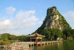 O lago 3 star (em Zhaoqing, em China) Fotografia de Stock