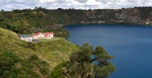O lago azul incrível em Mt Gambier Foto de Stock Royalty Free