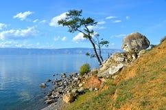 O Lago Baikal, ilha de Olkhon, Rússia Imagem de Stock Royalty Free