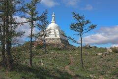 O Lago Baikal, o stupa da Buda Foto de Stock Royalty Free