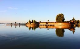 O lago Balathon em Hungria Imagem de Stock