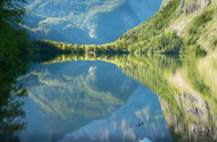 O lago bonito Obersee Foto de Stock Royalty Free