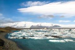 O lago da geleira Fotografia de Stock