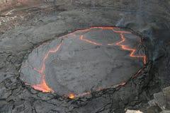 O lago da lava foto de stock