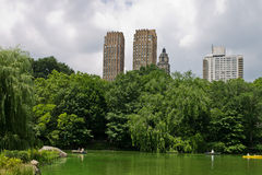 O lago de Central Park New York City Imagens de Stock