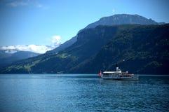 O lago de Luzern, Switzerland Imagem de Stock Royalty Free