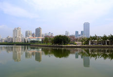 O lago do yuandang na tarde Imagem de Stock