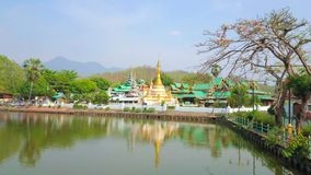 O lago em Mae Hong Son, Tailândia vídeos de arquivo