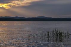 O lago evening Fotos de Stock