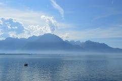 O lago Genebra Foto de Stock