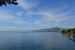 O lago Genebra Foto de Stock Royalty Free