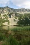 O lago glacial no Rila Fotografia de Stock