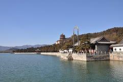 O lago Kunming no palácio de verão Fotos de Stock Royalty Free