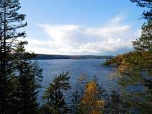 O Lago Ladoga Foto de Stock