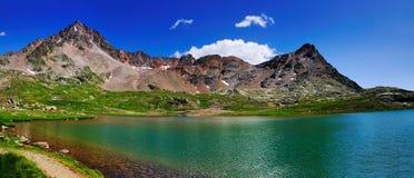Lago mountain, Gaviapass, Italia Foto de Stock