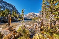 O lago Loch, Rocky Mountains, Colorado, EUA foto de stock