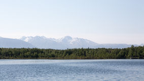 O lago Lucille alaska Fotos de Stock Royalty Free
