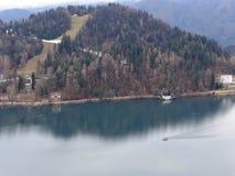 O lago sangrou em Slovenia Fotos de Stock