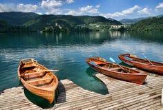 O lago sangrou, Slovenia Imagens de Stock Royalty Free