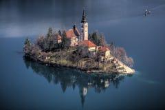 O lago sangrou, Slovenia Fotografia de Stock Royalty Free