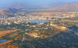 O lago santamente em pushkar, em rajasthan, india Imagem de Stock Royalty Free
