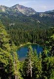 O lago sunrise, monta um parque nacional mais chuvoso Foto de Stock Royalty Free