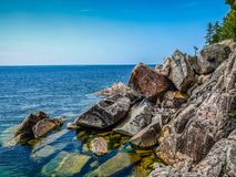 O Lago Superior majestoso, Ontário, Canadá foto de stock royalty free