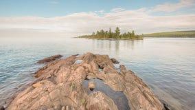 O Lago Superior, parque do ponto dos caçadores, MI fotografia de stock royalty free